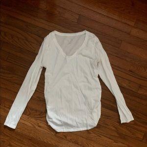 Isabel Maternity by Ingrid & Isabel Tops - V-Neck Long Sleeve Maternity Shirts